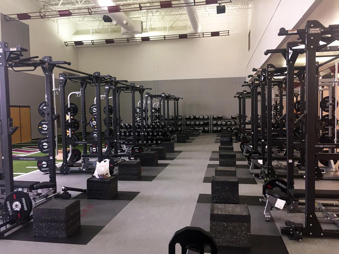 Eku New Strength Center Kiefer Mondo Flooring And Indoor