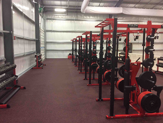 Circleville High School - Ohio-Weight Room Flooring
