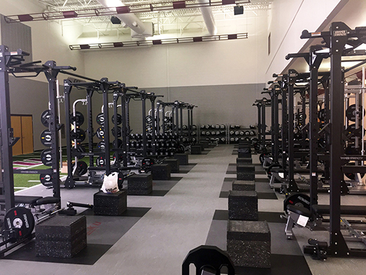 Eastern Kentucky University Weight Room Flooring