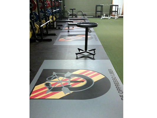 Fort Campbell Weight Room Flooring