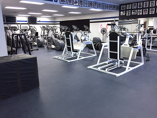 Girls Preparatory School Weight Room Flooring