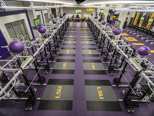 Louisiana State University Weight Room Flooring