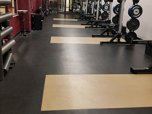 Missouri State University Volleyball Weight Room Flooring