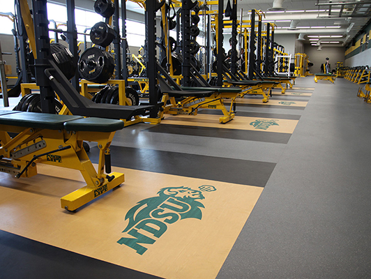 North Dakota State University Weight Room Flooring