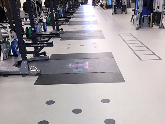 Tennessee Titans Weight Room Flooring