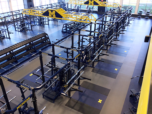 University Of Michigan D3 Weight Room Flooring