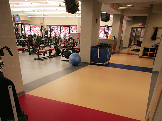University Of Dayton Ohio Weight Room Flooring