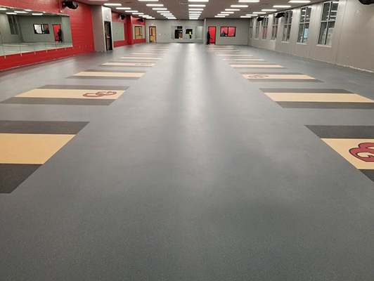 Center Grove High School Weight Room Flooring