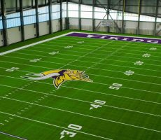 Turf Installed At The New Vikings Indoor Practice Facility