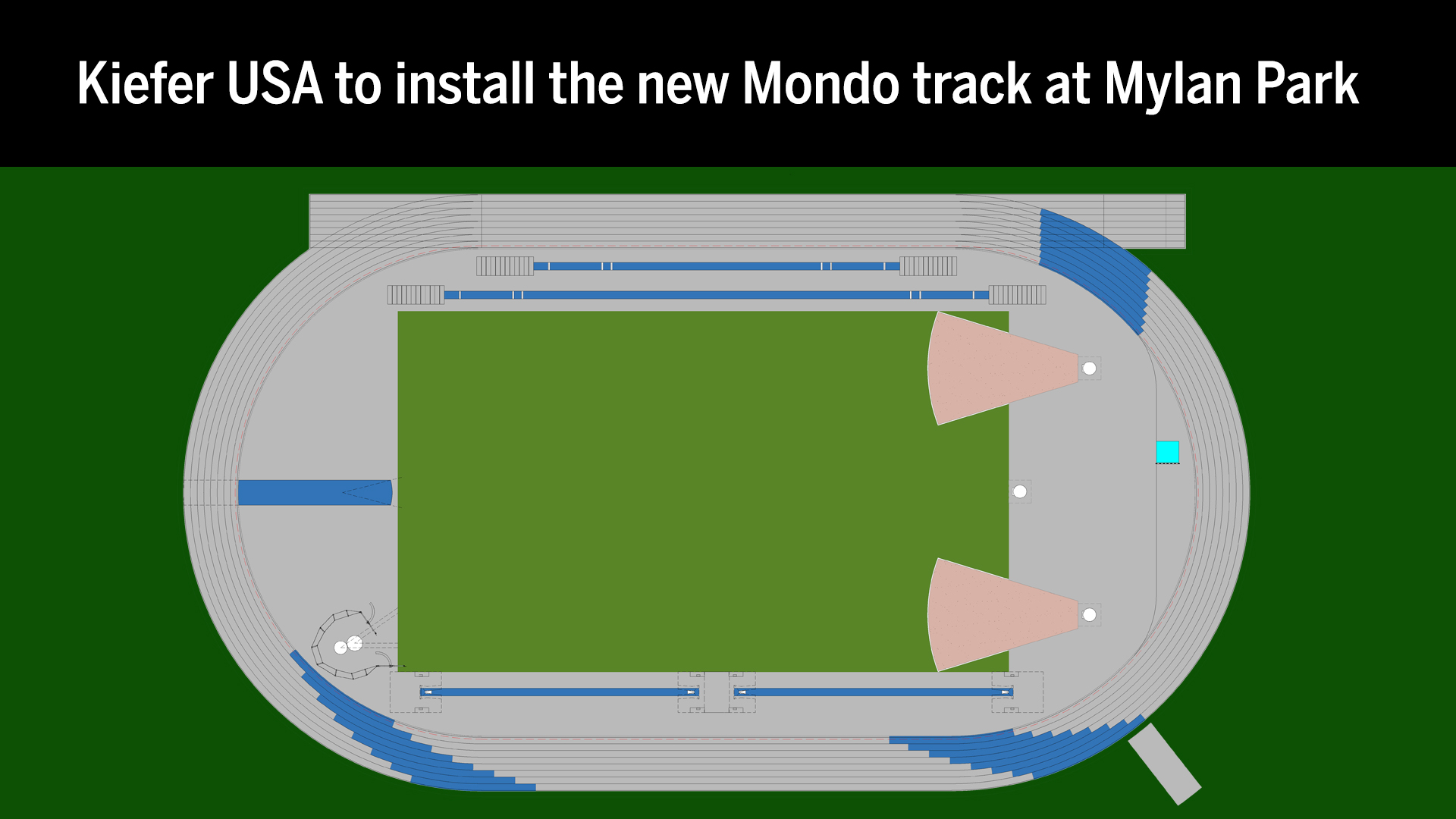 Kiefer USA to install the new Mondo track at Mylan Park
