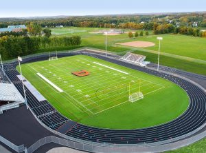 Delano High School artificial turf field