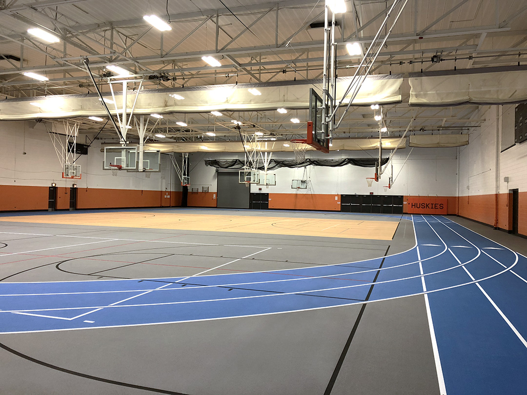 John Hersey High School Rubber Flooring