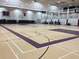Loyola Academy gym flooring