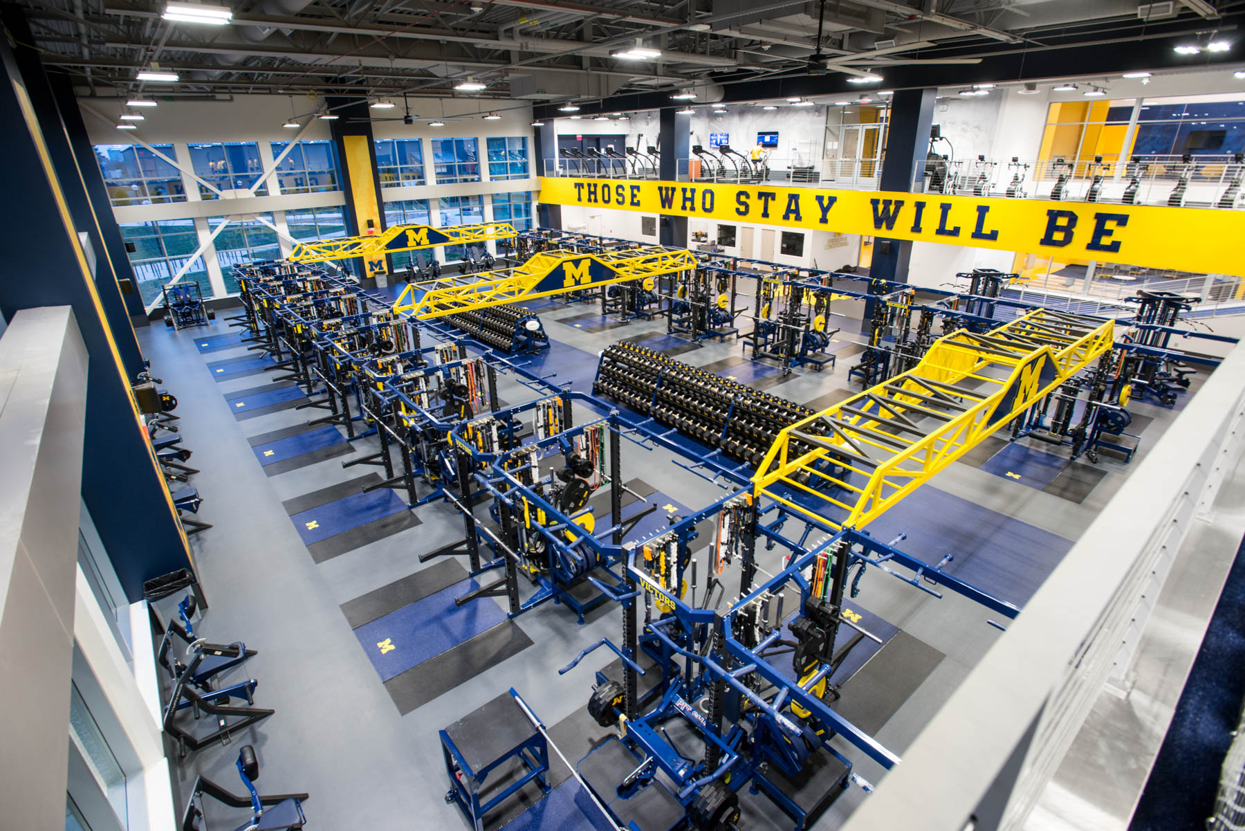 University Of Michigan Fitness Flooring