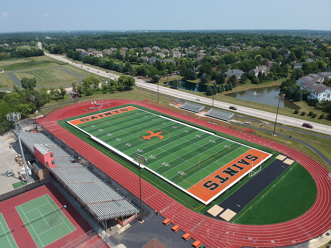 St. Charles East High School Artificial Turf Field