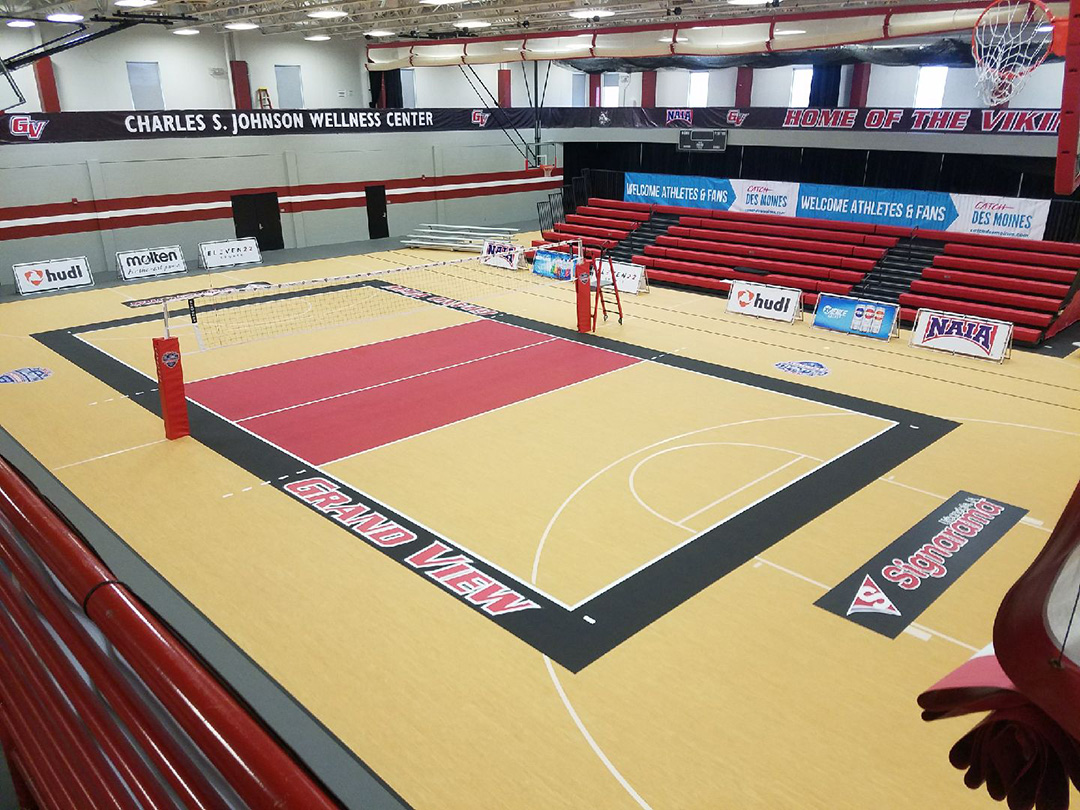 Grand View University Gym Flooring
