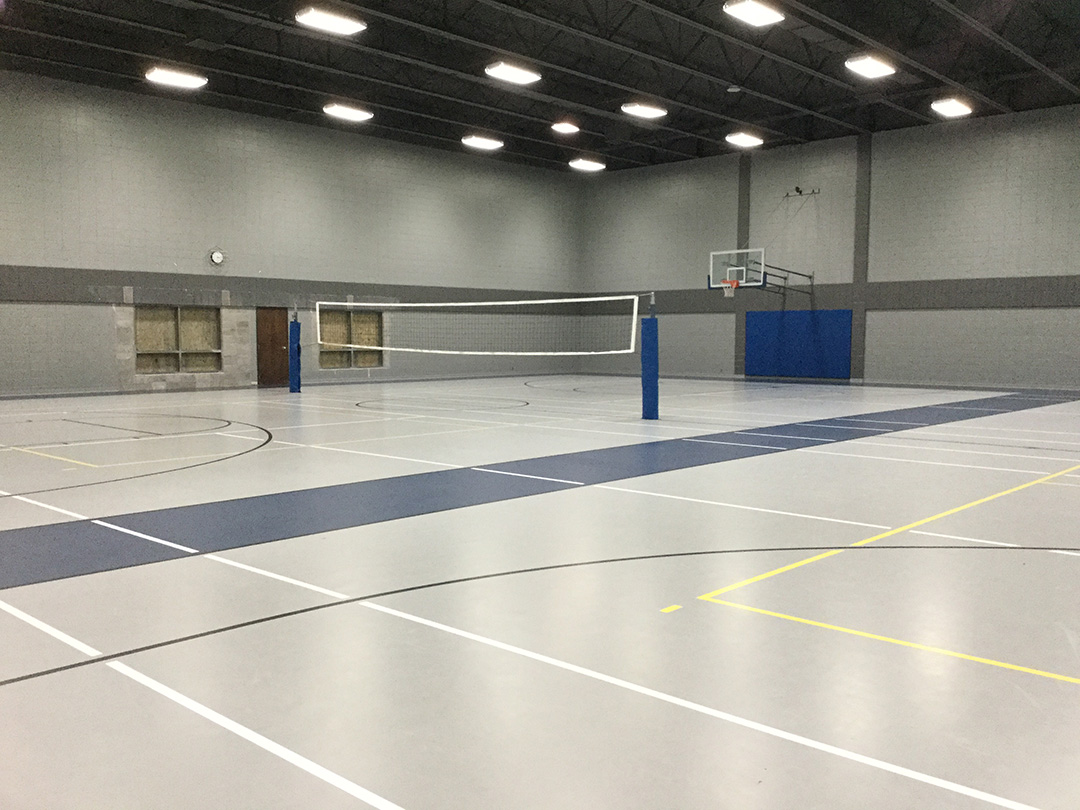 Iowa Rec Center Volleyball Flooring