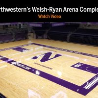Northwestern University Arena Wood Floor