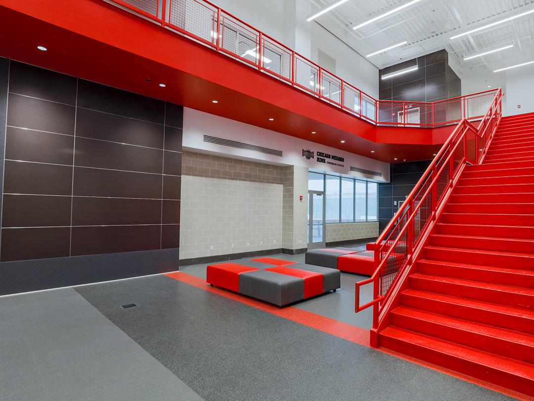 Chicago Blackhawks Training Facility Rubber Flooring