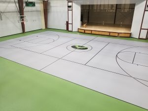 Milford Middle School rubber flooring