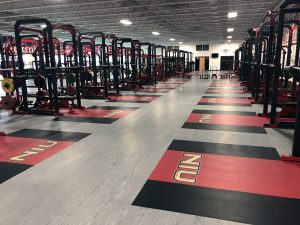 Northern Illinois University fitness flooring