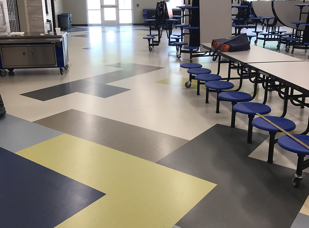 Toliver Elementary School - Rubber Flooring