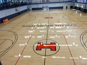 University of Illinois gym flooring