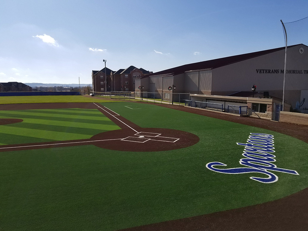 University Dubuque Baseball Turf