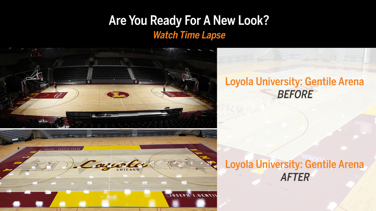 Loyola University Wood Gym Flooring