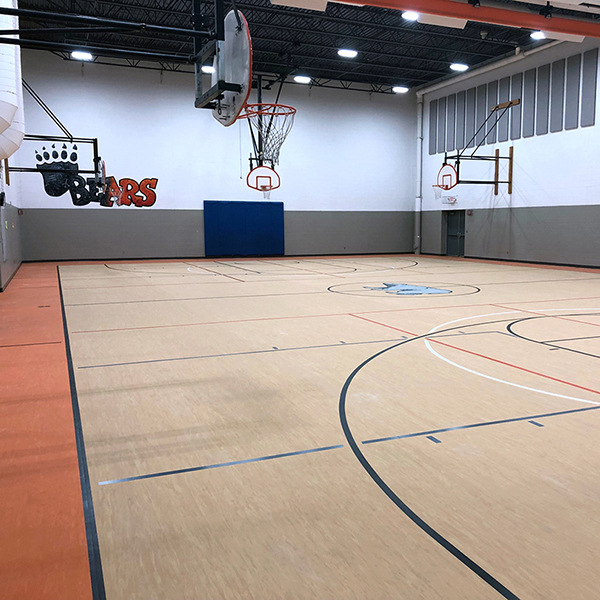 Birch Lake Elementary School Gym Flooring