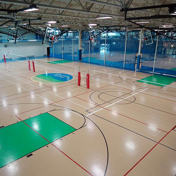 RecPlex Gym Volleyball Flooring