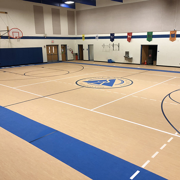 Science Arts Academy Gym Flooring